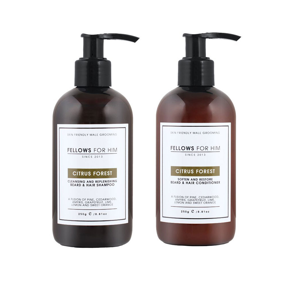 Fellows For Him Beard & Hair Care Bundle - Citrus Forest