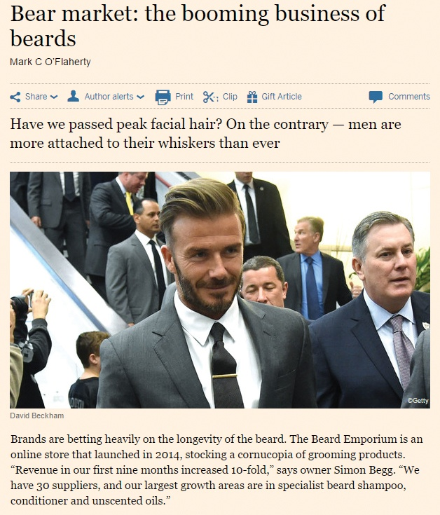 Financial Times - Bear market: the booming business of beards