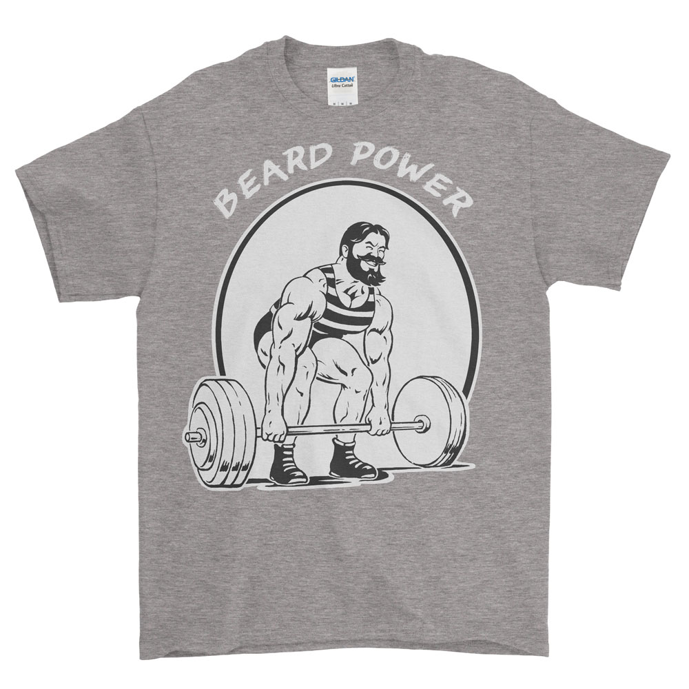 Beard Power Deadlift - Heavyweight Tee