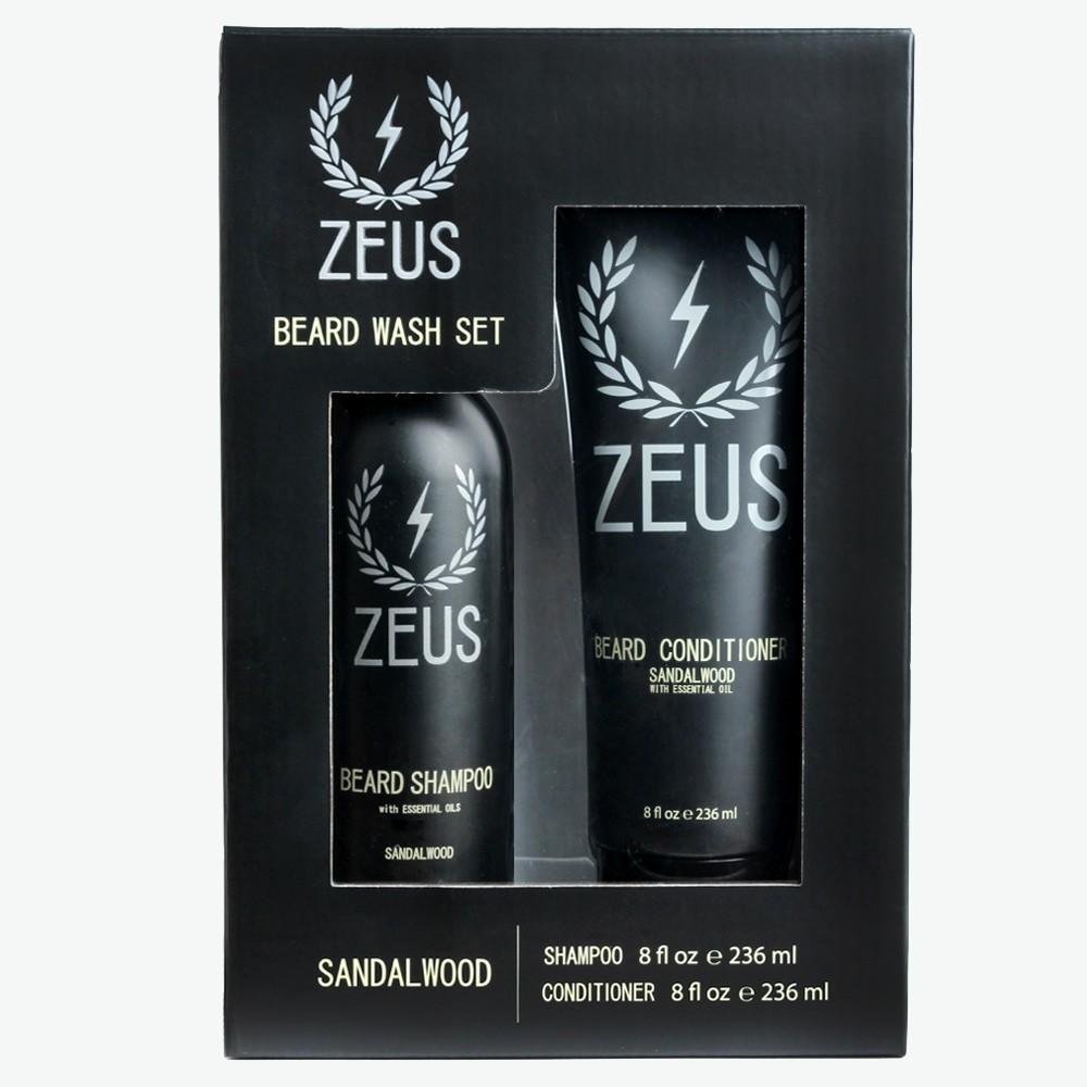 Zeus Beard Wash & Conditioner Set - Sandalwood